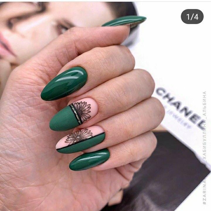 Пин от пользователя Žanna на доске NAIL. | Зеленые ногти ...