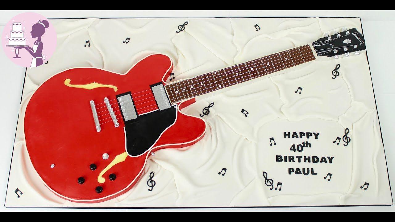 How to make a guitar cake youtube guitar cake guitar