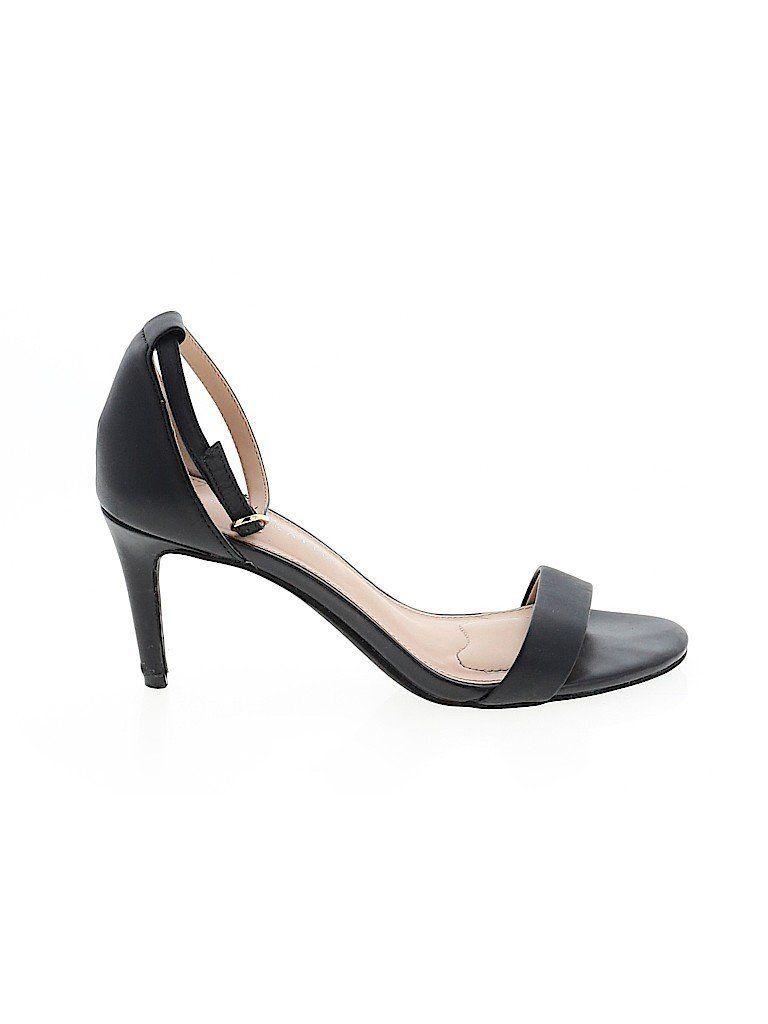 Kelly Katie Heels Black Solid Shoes Size 7 In 2020 Heels Shoes Kelly Katie