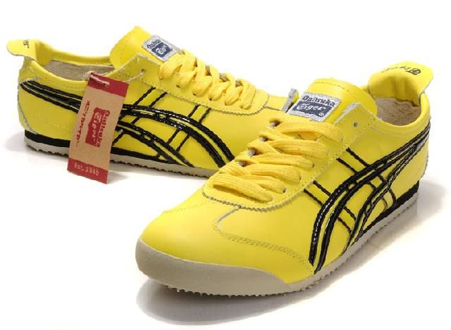 Asics Onitsuka Tiger Mexico 66 Shoes Yellow Black | The pair