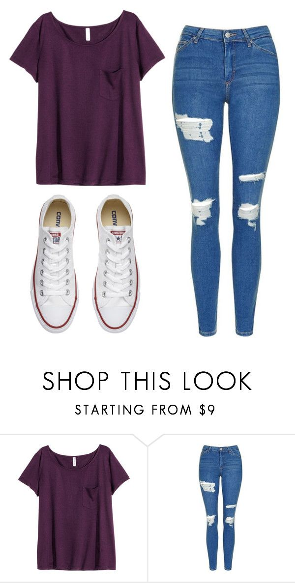 """Untitled #520"" by cuteskyiscute on Polyvore featuring H&M, Topshop and Converse"