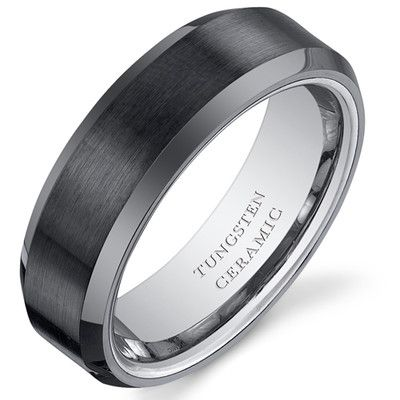 Wedding Bands Wayfair Buy Gunmetal Tungsten Titanium Silver Ceramic Wedding Bands Wedding Ring Bands Tungsten Wedding Rings