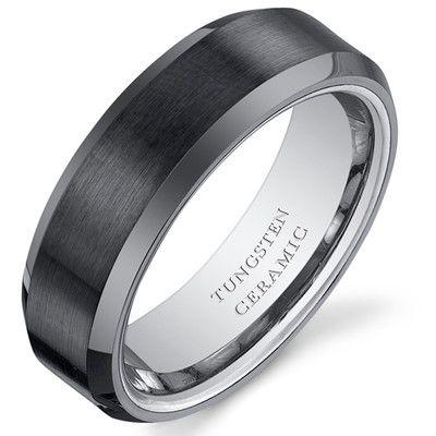 Wedding Bands Wayfair Buy Gunmetal Tungsten Titanium Silver