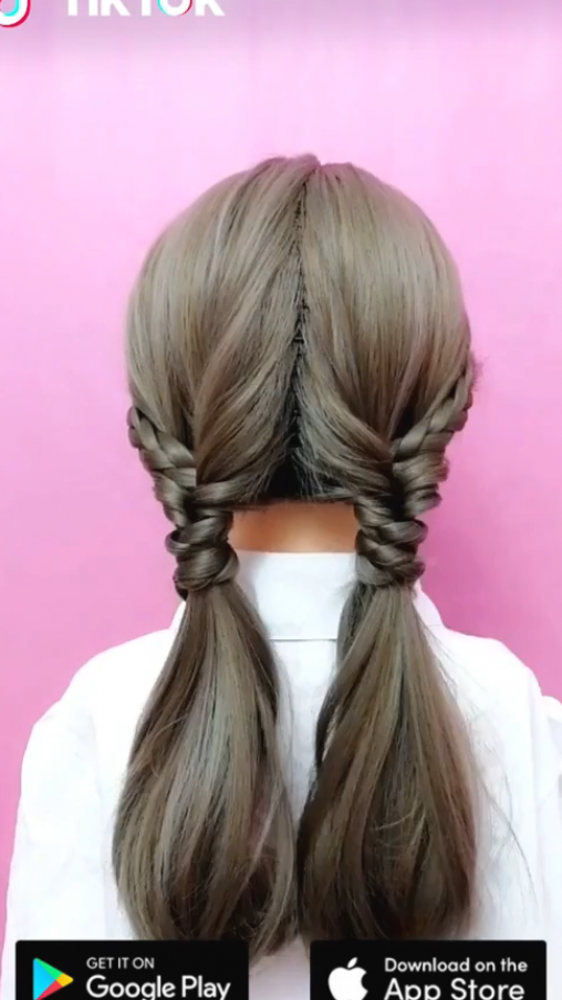 Super Easy To Try A New Hairstyle Download Tiktok Today To Find More Amazing Videos Also You Can Post Videos In 2020 Hairstyle Long Hair Styles Short Hair Styles