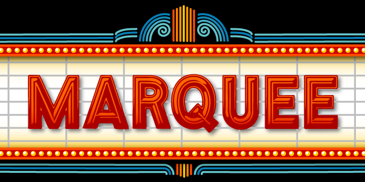 Compilation Of Top 10 Film Marquee Font Styles Mood