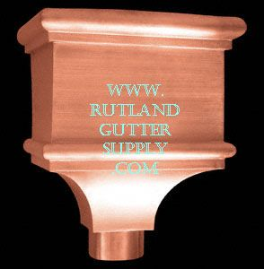 Rain Collector Head Pictured Here As A Rain Gutter Copper Conductor Head Rain Gutters Rain Chain Copper Gutters