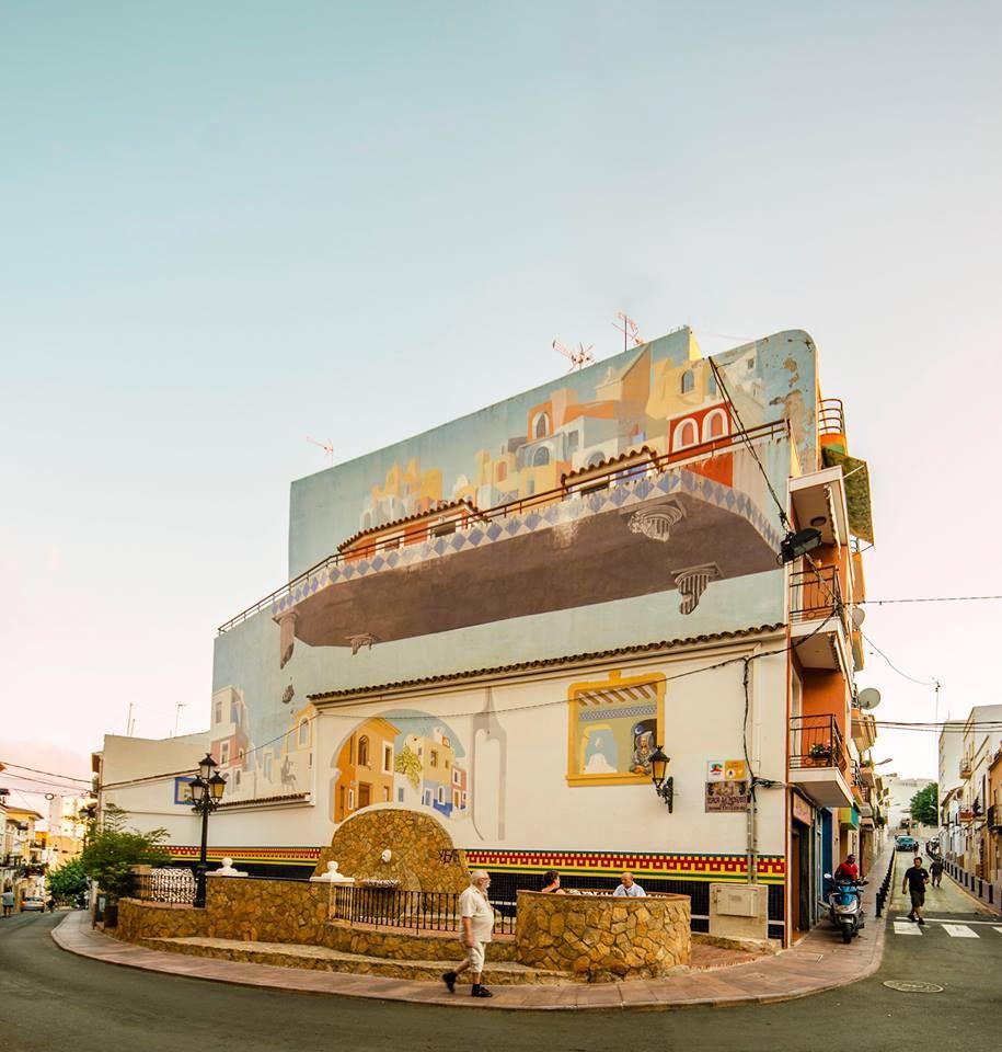 Imposante Raadselachtige En Surrealistische Muurschildering In