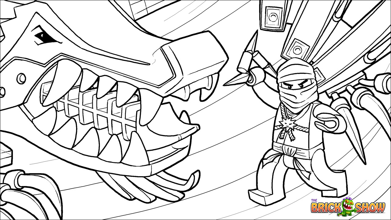 Printable Coloring Page For Lego Ninjago Zane And His Ice