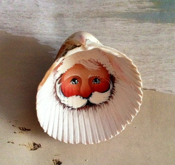 I believe this is a cockle shell i love the beautiful for Seashell ornament ideas