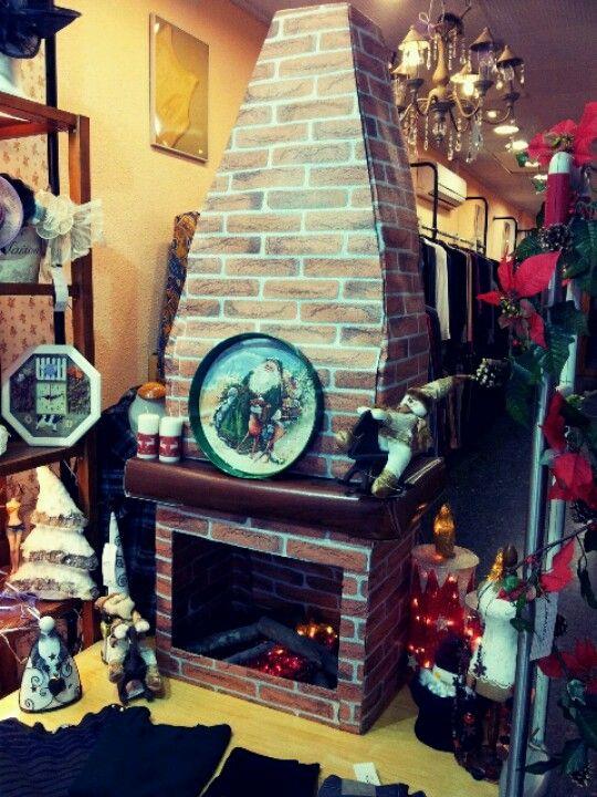 Chimenea Navidad  Smokestack Xmas Hecha con cajas de zapatos