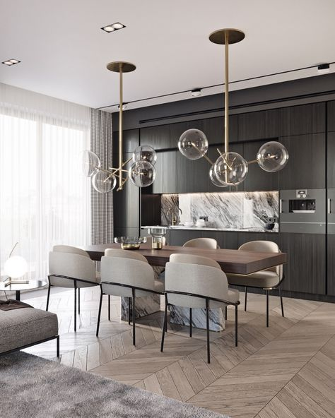 70 Modern Dining Room Ideas For 2019: Modern Glamour Dining Room In 2019