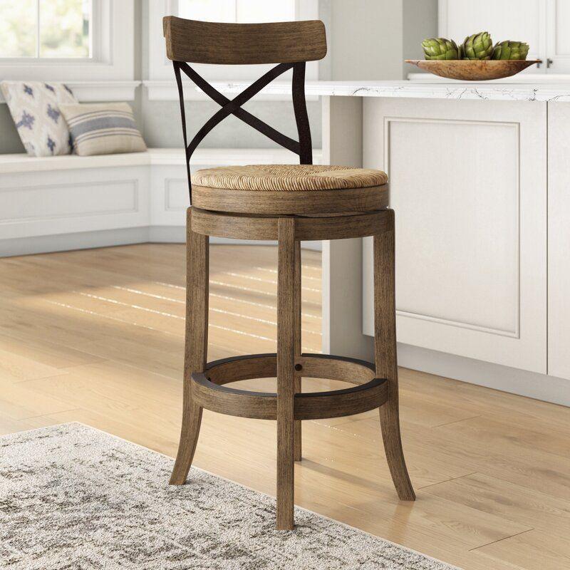August grove jacklyn swivel bar counter stool reviews