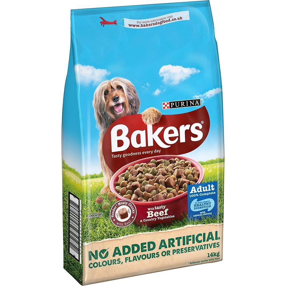 Bakers Complete Beef And Veg 14kg Dog Food Recipes Dry Dog Food
