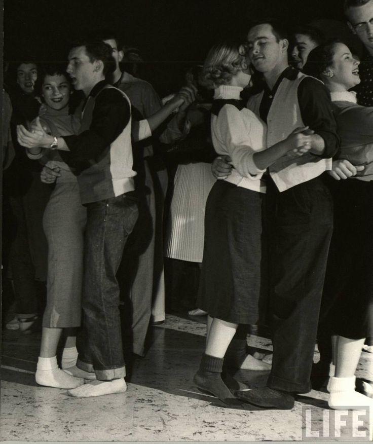 Dancing At The Sock Hop 1950s In Life Magazine Sock