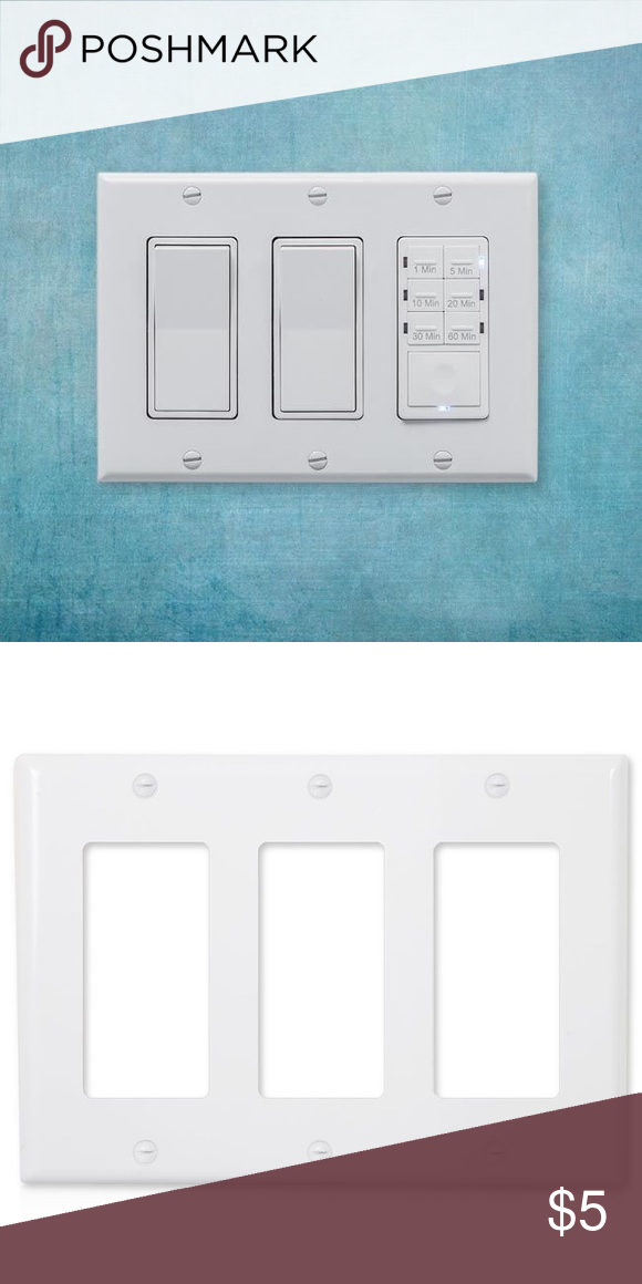 Nwt White Decorative Wall Plate Outlet Cover Plates On Wall Wall Plate Cover Outlet Covers