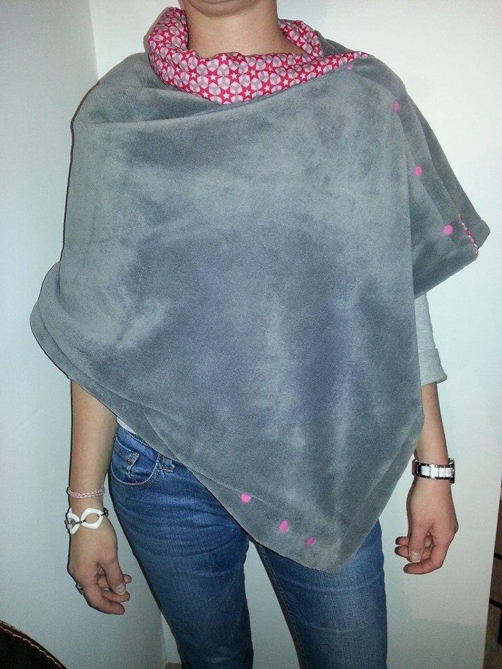 c3fd0018f60 Tuto poncho polaire - Couture DIY