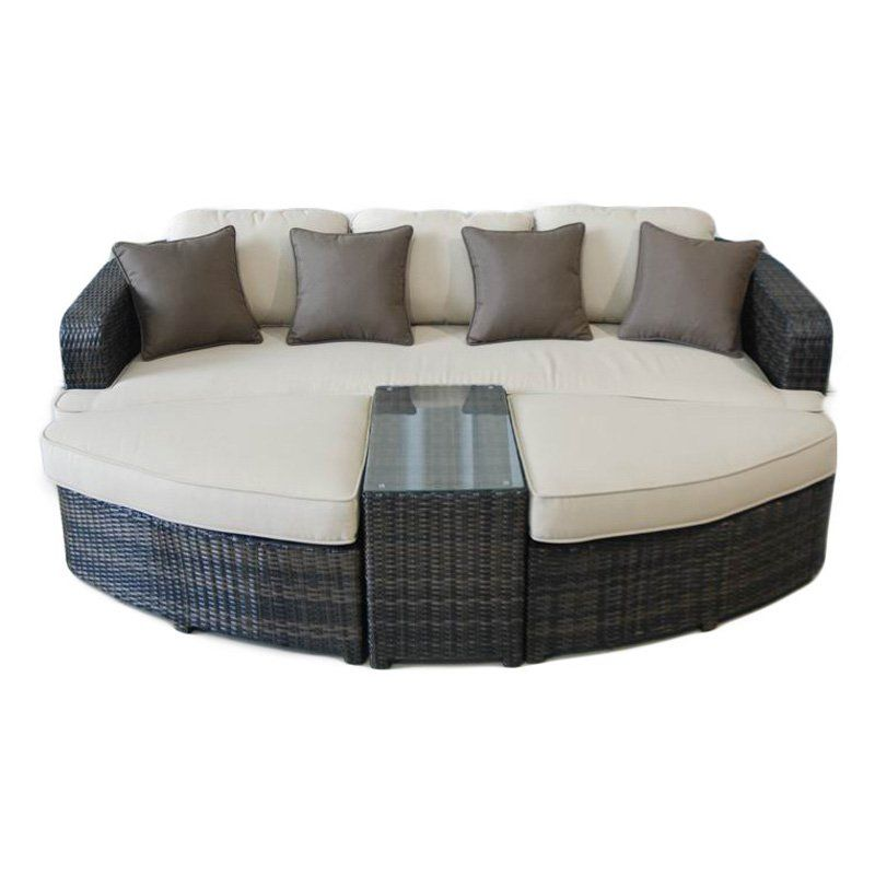 Kontiki Monte Carlo All Weather Wicker 4 Piece Daybed   Outdoor Wicker  Furniture At Hayneedle