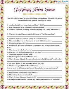 Christmas Trivia Games Holiday Crafts Pinterest Navidad Feliz