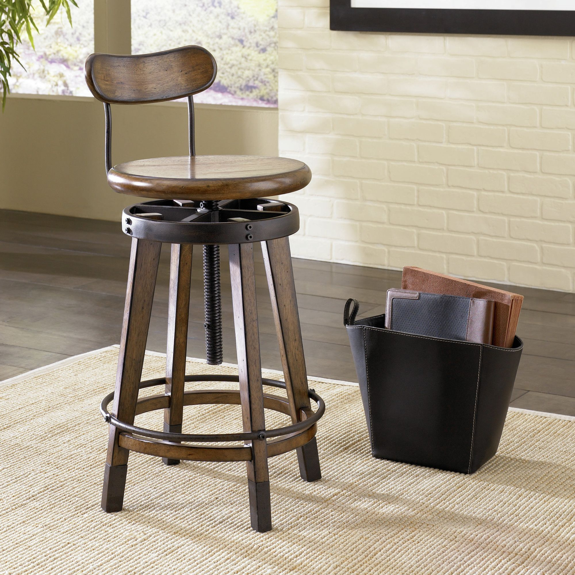 Found it at Wayfair Studio Home Swivel Adjustable Bar Stool with