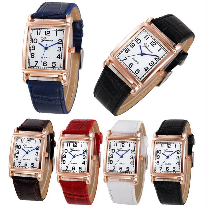 Leather Strap Women's Luxury Quartz Watches Wrist watch