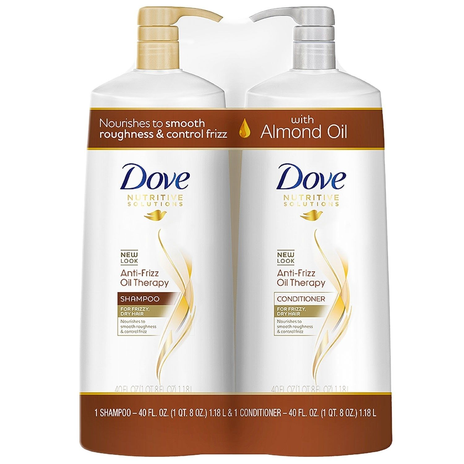 Dove Anti Frizz Oil Therapy Shampoo Conditioner 40 Fluid Ounce 2 Pack Anti Frizz Products Shampoo And Conditioner Dove Shampoo And Conditioner