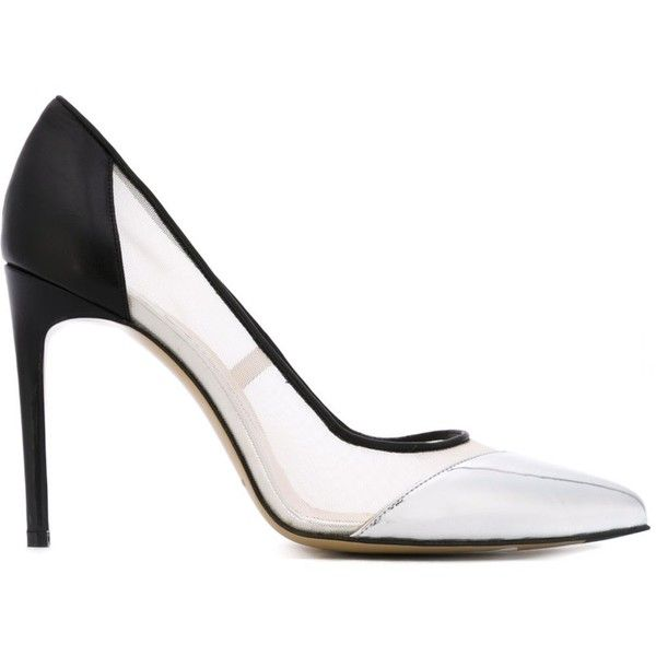 Bionda Castana Bay Pumps (£415) ❤ liked on Polyvore featuring shoes, pumps, black, black leather pumps, black pumps, bionda castana pump, bionda castana and leather pumps