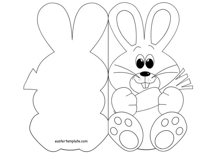 Easter Bunny Card Coloring Page Make Your World More Colorful With Free Printable Coloring Pages Easter Templates Easter Cards Printable Easter Bunny Template