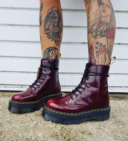 DR MARTENS Vegan Jadon II Platform Boots | Boots, Vegan
