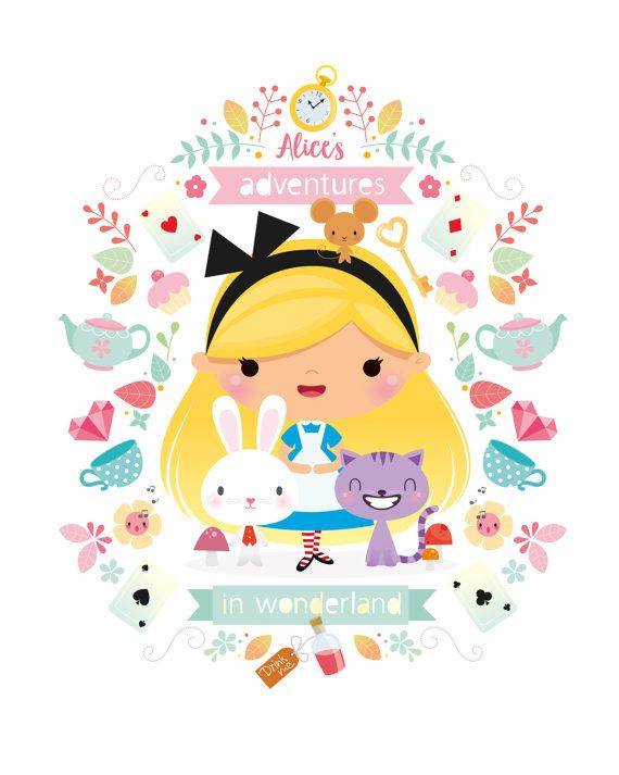 Alice au pays des merveilles fille art par IreneGoughPrints