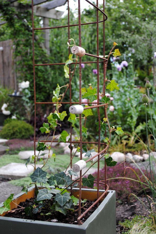 armeringsjärn inredning trädgård