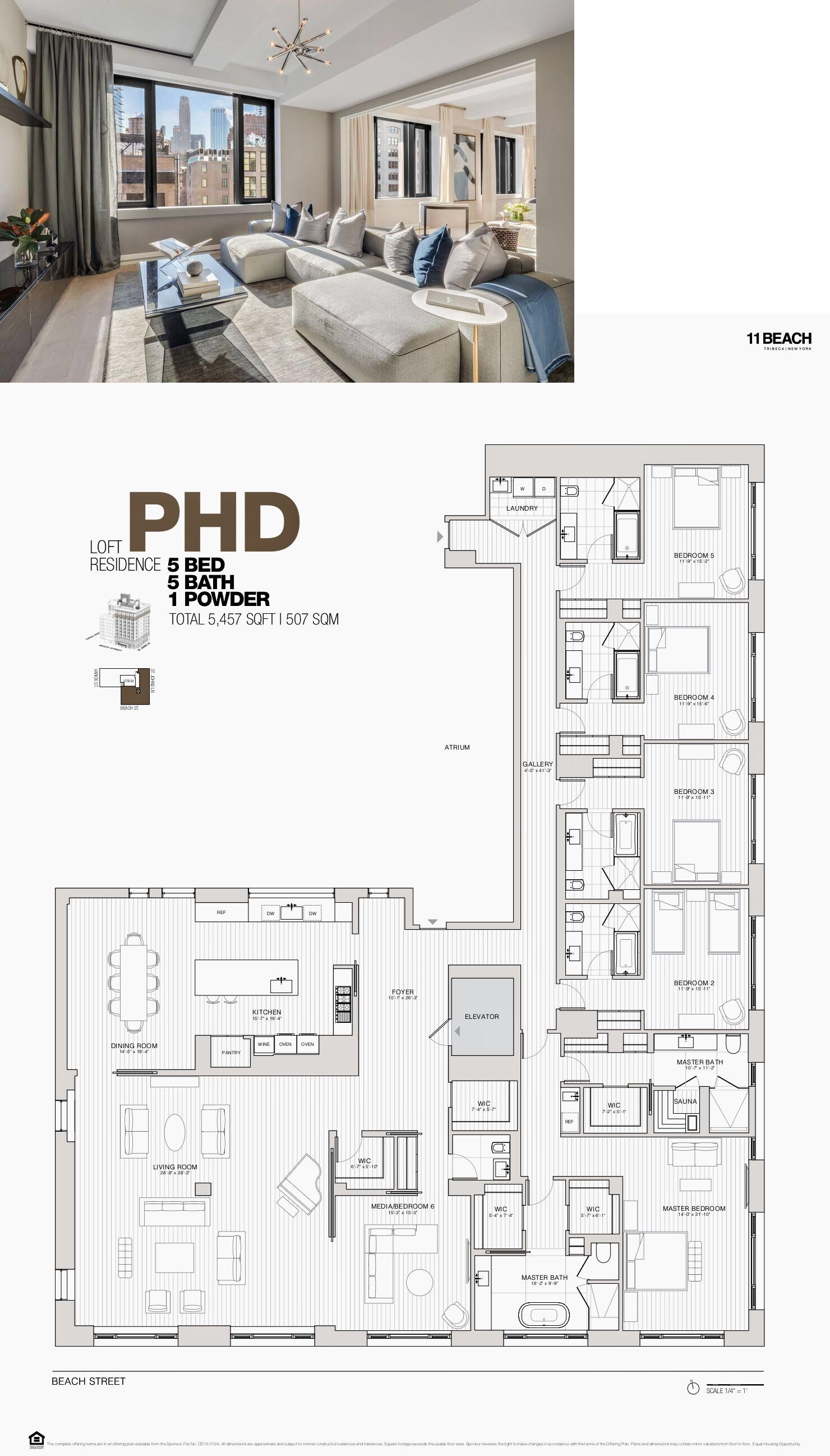 11 Beach Tribeca Penthouse D Condo Floor Plans Home Building Design Model House Plan