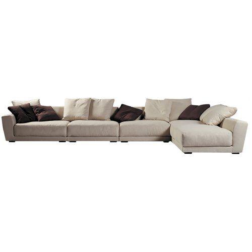 Leather Sectional Sofa Modern White Natural Linen Italian Modular Sofa and Lounge Urban Couture Designer Homewares u Furniture OnlineHouse
