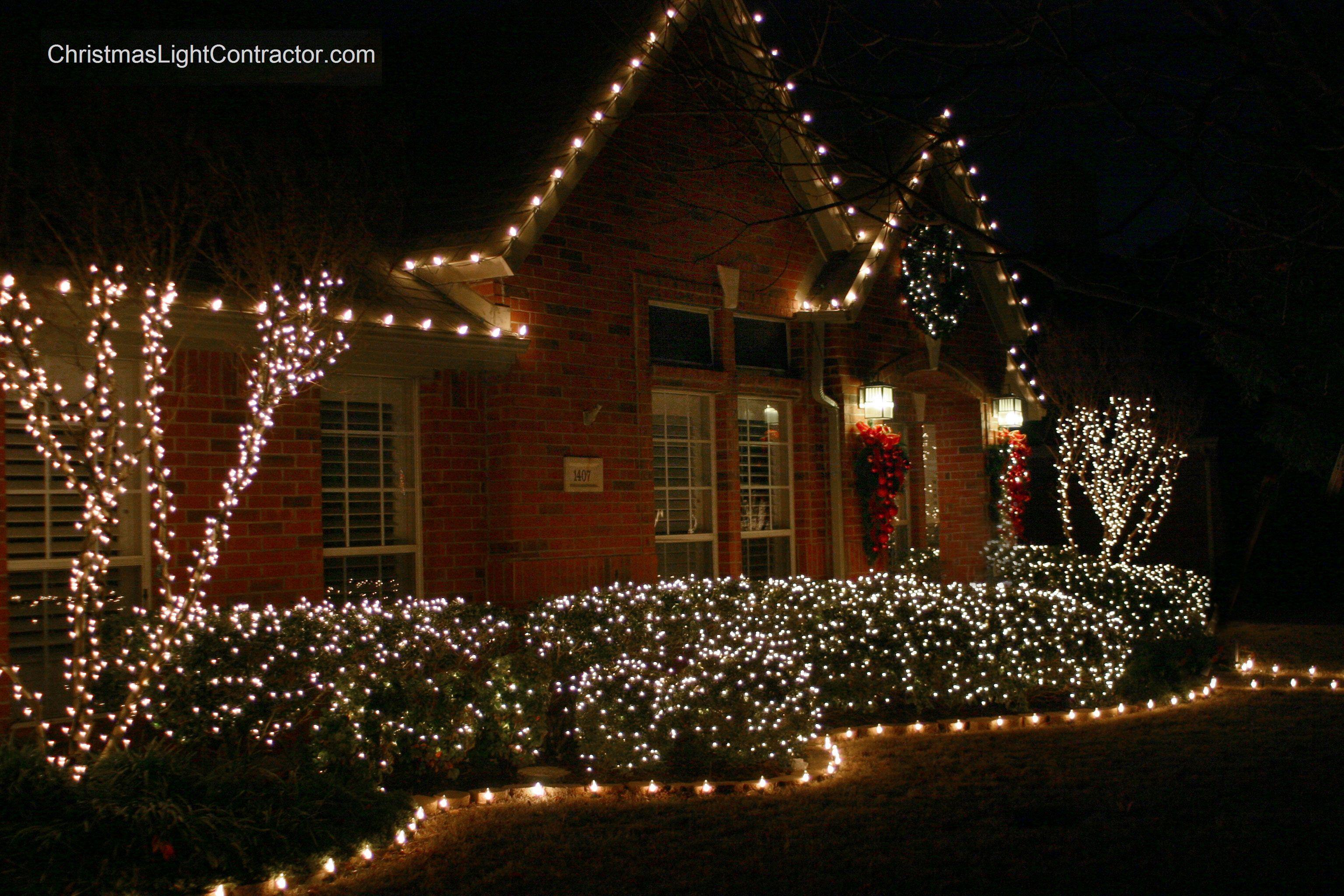 Exterior Christmas Lights Christmas Light Contractor C 2010 Exterior Christmas Lights Outdoor Christmas Lights Christmas House Lights