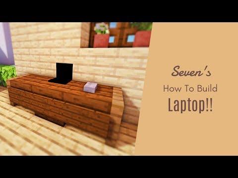 マインクラフト家具 簡単なノートパソコンの作り方 建築講座