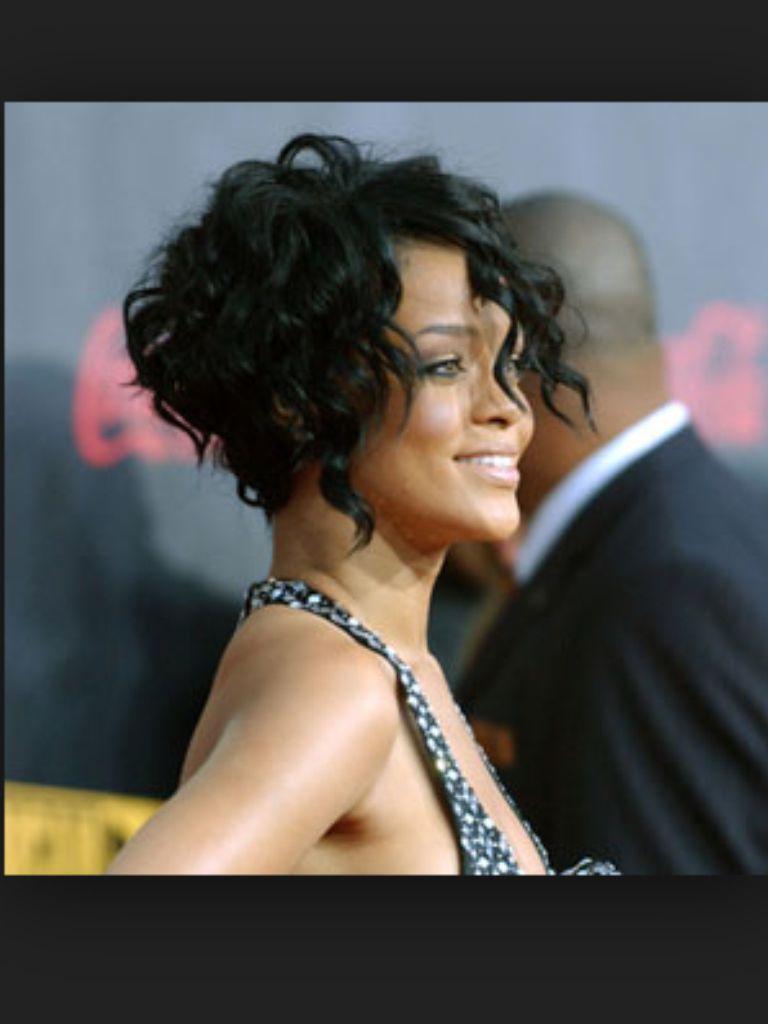 Rihanna short curly hair  Texture  Pinterest  Short curly hair
