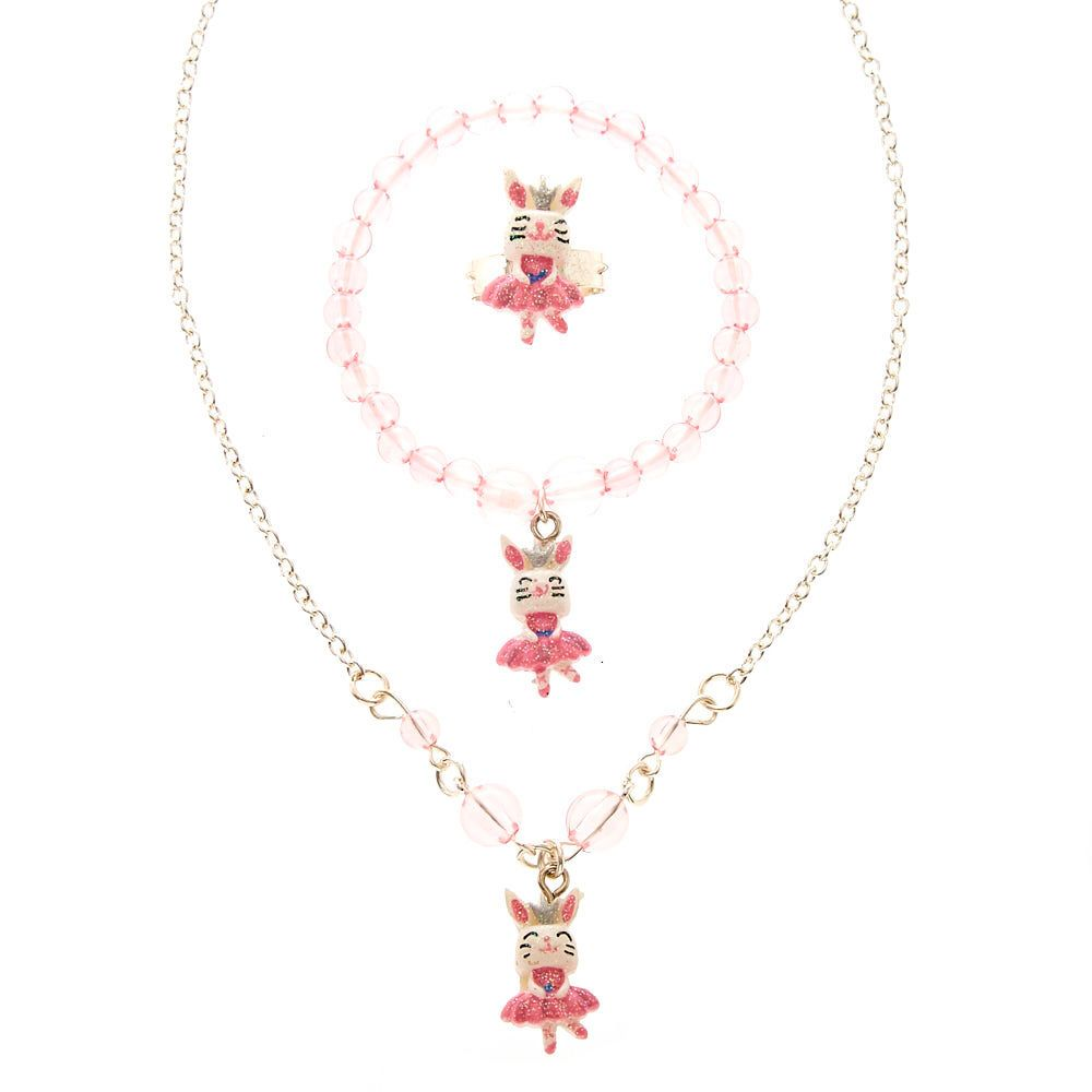 Claires kids swan lake bunny jewelry set claires pinterest