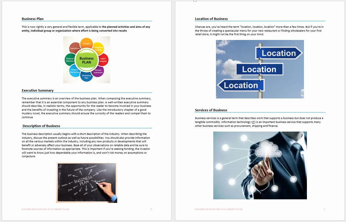 Business Development Plan Template in 2020 (With images