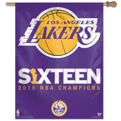 Los Angeles Lakers Banner 16 Time Champions Flag Los Angeles Lakers Nba Championships Lakers