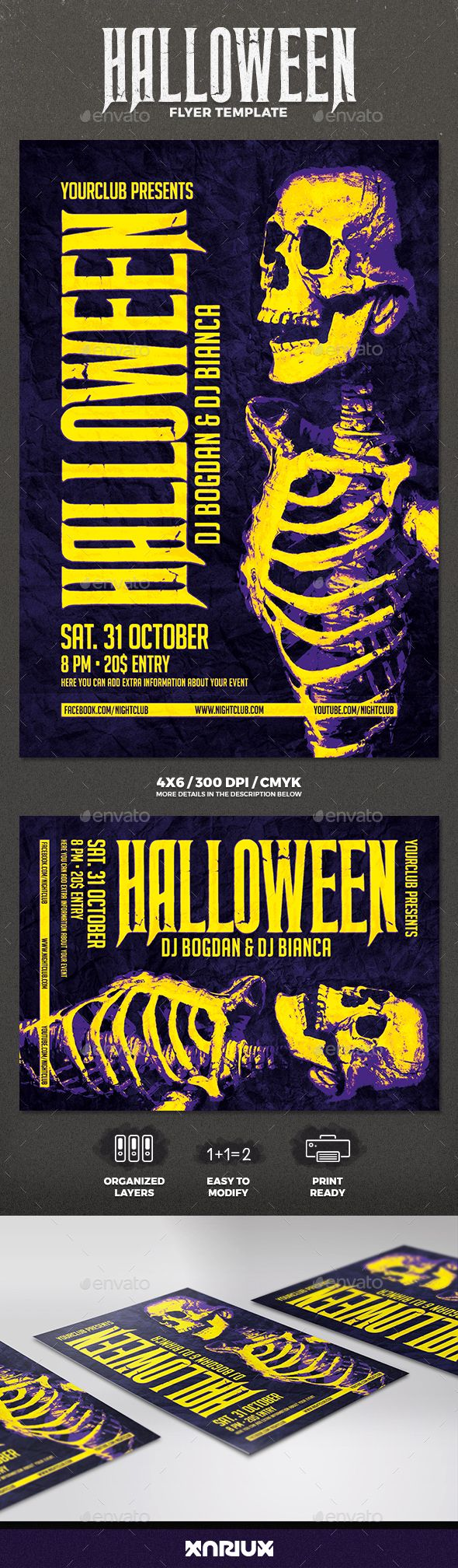 halloween flyer | halloween party flyer, party flyer and fonts