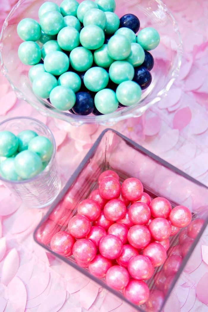 Pearl gumballs from a Glam Floral My Little Pony Birthday Party on Kara's Party Ideas   KarasPartyIdeas.com (14)