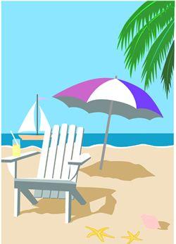 Beach Chair Clip Art Umbrella Graphic