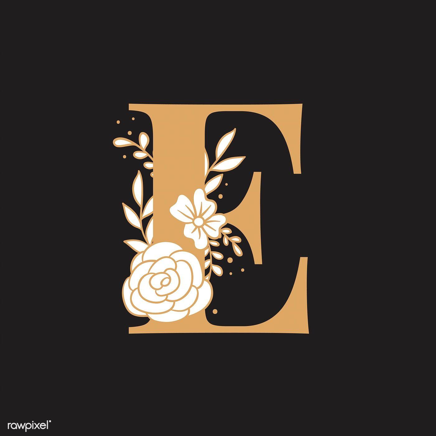 Botanical Capital Letter E Vector Free Image By Rawpixel Com Tvzsu Letter Art Design Alphabet Wallpaper Letter E Art