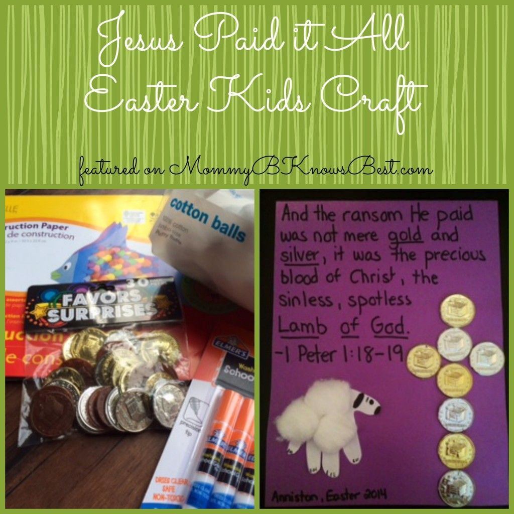Jesus Paid it All Easter Kids Craft #easter #craft #easykidscraft
