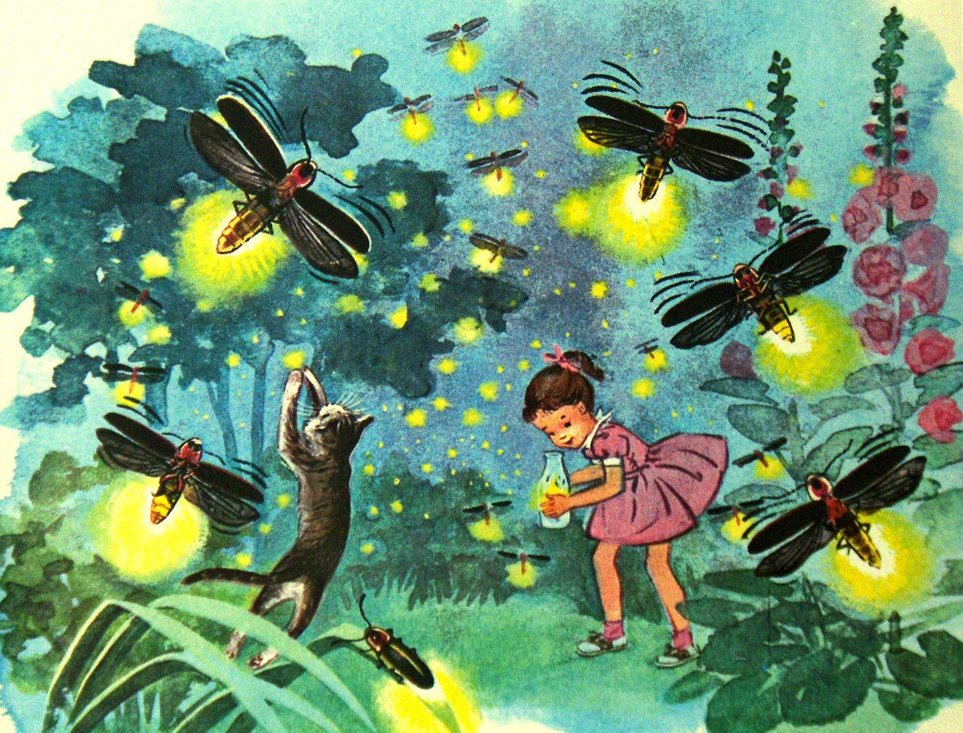 Vintage children art books | Vintage Art Childrens Book Framed Illustration by GotchaChaCha