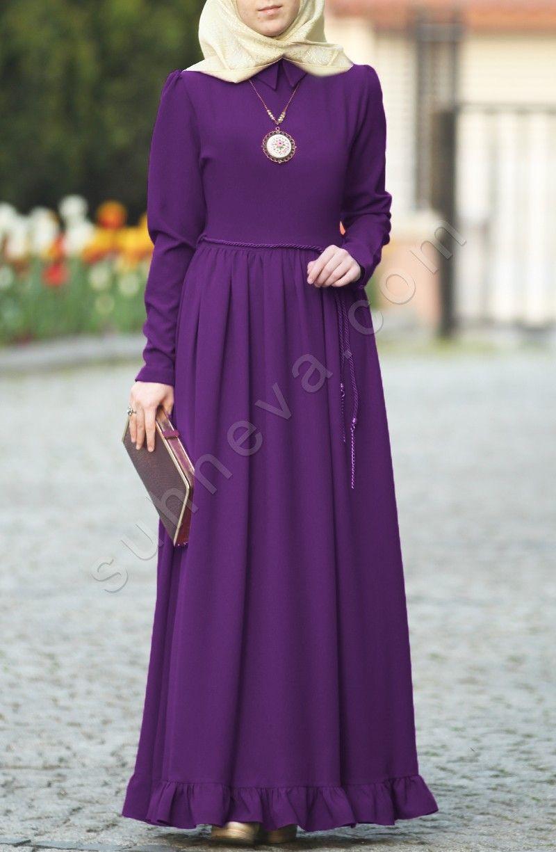 Photo of Ruffle Detail Dress – Purple