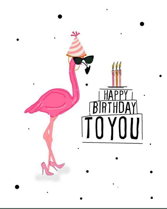 Happy Birthday Flamingo Digital Card Digital Greeting Card Happy Birthday Girl Happy Birthday Cards Birthday Wishes Greetings Happy Birthday Wishes For Her
