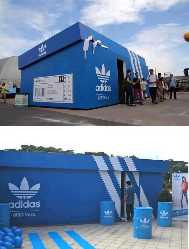 Adidas Shoebox Shop un pop-up store es una tienda efímera y de corta duración pero a la