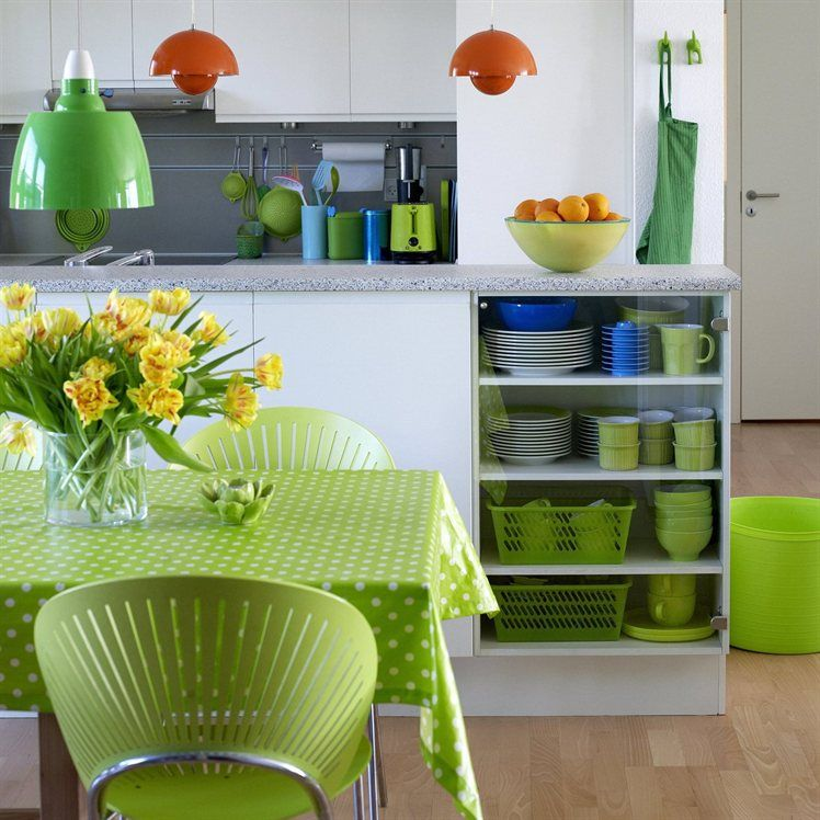 Colorful kitchen  For the Home Pinterest Kitchens, Dining