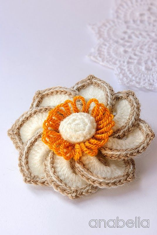 Anna Crochet Brooch By Anabelia Crochet And Knitting Patterns