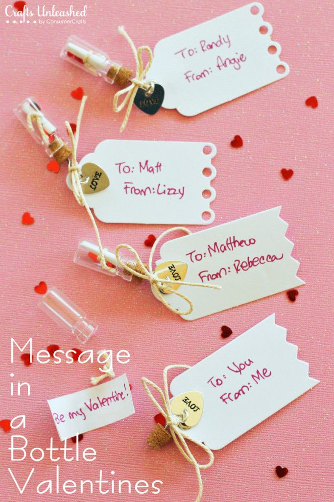 Handmade Message In A Bottle Valentines   25+ Sweet Gifts For Him For Valentineu0027s  Day